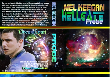 gay books: the wraparound cover for the 2008 edition of HELLGATE: PROBE ... gay science fiction comes of age with enviable grace and style!